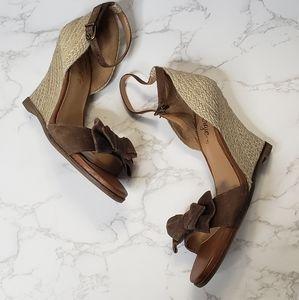 Fergie Kara Ankle Strap Wedge Heels
